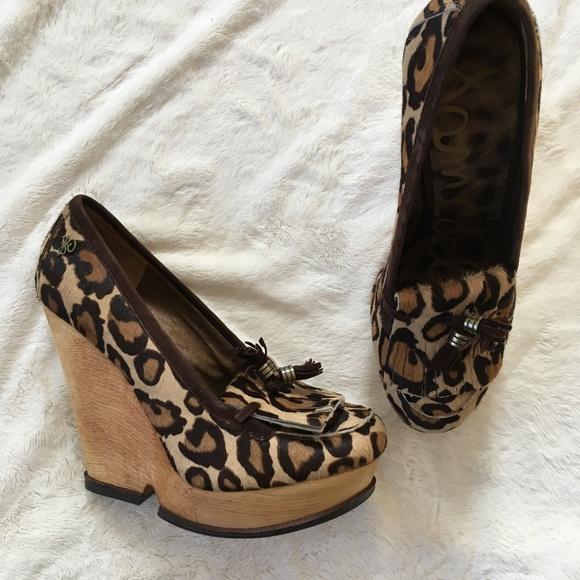 fe4ce335caea6c Sam Edelman Wesley Pony Hair Wedge Loafer Leopard.  M 5a8ee69a5512fd34f5cfaecc